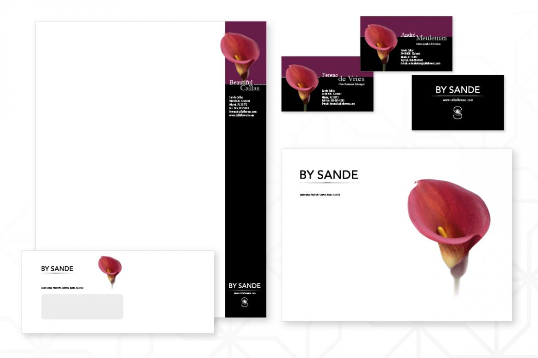 Huisstijlontwerp voor 'By Sande' Callas, USA
