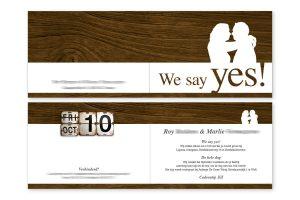 Bijzondere trouwkaart met eigen silhouettes