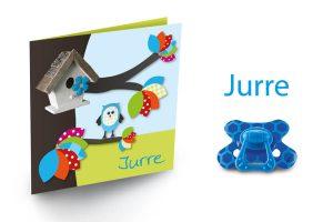 Geboortekaart met uilen, Jurre