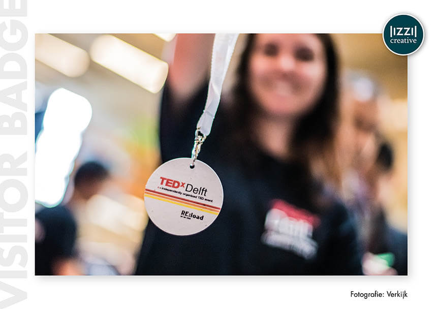 badges, event, TEDxDelft, Verkijk BV