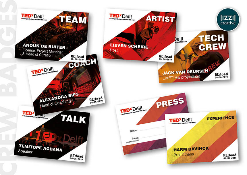 badges, event, TEDxDelft