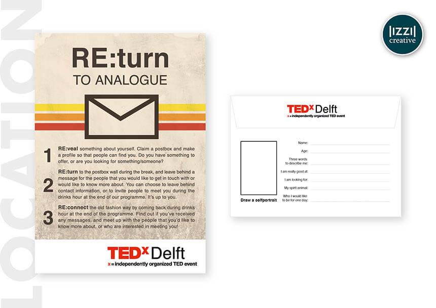 poster, envelop, event signing, TEDxDelft, Verkijk BV